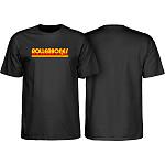 Rollerbones Retro Script T-Shirt - Black
