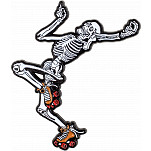 Rollerbones Dancing Skeleton Lapel Pin