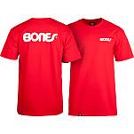 Bones® Bearings Swiss Text T-Shirt - Red