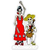 Rollerbones Sticker DOD Couple Dancing Sticker single