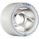 Rollerbones Turbo Wheel Clear Aluminum Hub 62mm 97a 8pk