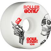 Rollerbones Bowl Bombers Wheels 62mm 101A 8pk White