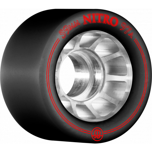 Rollerbones Nitro Wheel 59mm x 97a 8pk Black