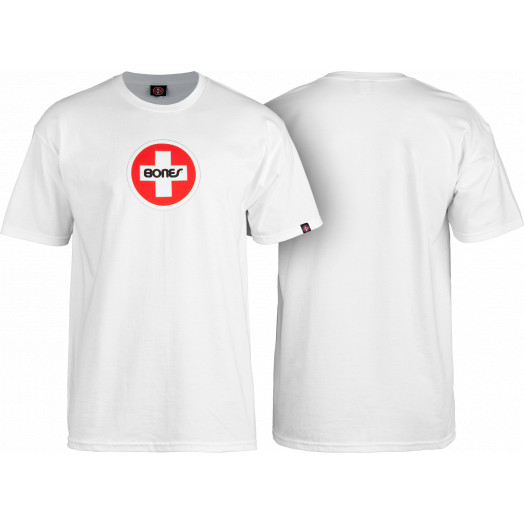 Bones® Bearings Swiss Circle T-Shirt - White