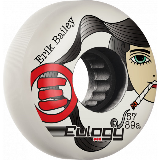 Eulogy Pro Erik Bailey Lady Killer Signature Aggessive Inline Wheel 57mm 89A 4pk White