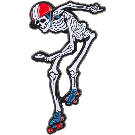 Rollerbones Derby Skeleton Lapel Pin