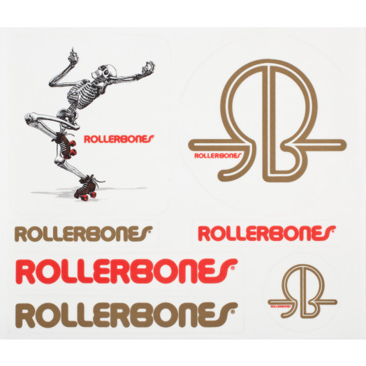 Rollerbones Skating Skeleton Single Sticker