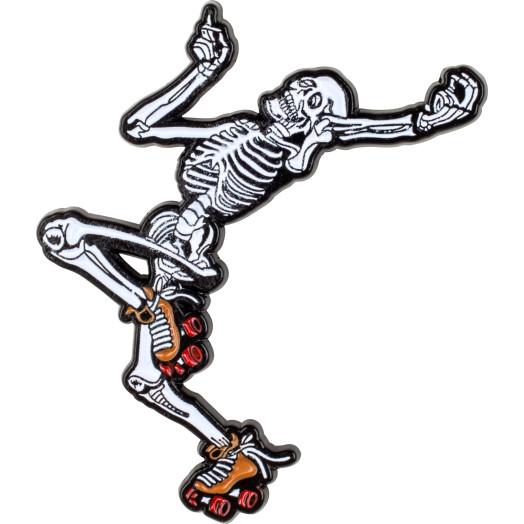 Rollerbones Dancing Skeleton Lapel Pin