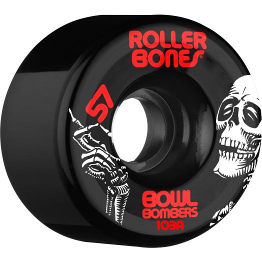 Rollerbones Bowl Bombers Wheels 57mm 103A 8pk Black