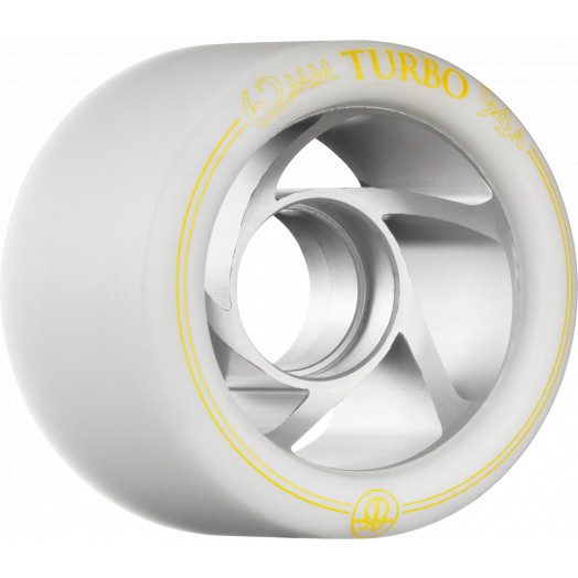 Rollerbones Turbo Wheel Clear Aluminum Hub 62mm 94a 8pk Natural
