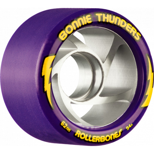 Rollerbones Turbo Bonnie Thunders Signature Rollerskate Wheel 62mm 94A Purple 8pk