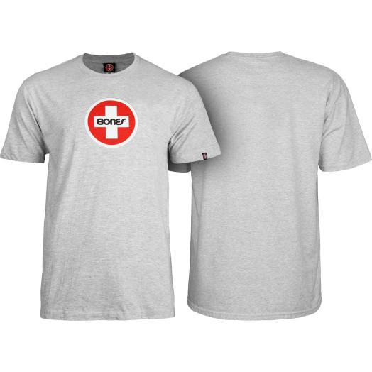 Bones® Bearings Swiss Circle T-Shirt - Gray