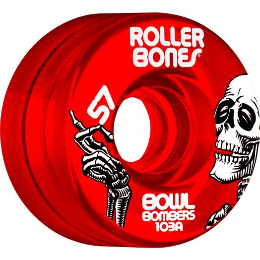 Rollerbones Bowl Bombers Wheels 57mm 103A 8pk Red