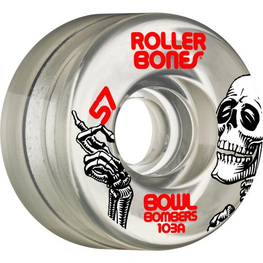 Rollerbones Bowl Bombers Wheels 57mm 103A 8pk Clear