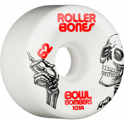 Rollerbones Bowl Bombers Wheels 62mm 101A 8pk White