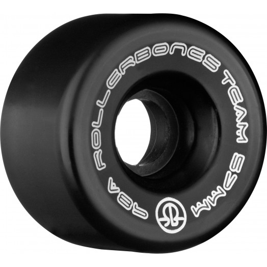 Rollerbones Team Logo 57mm 98A 8pk Black