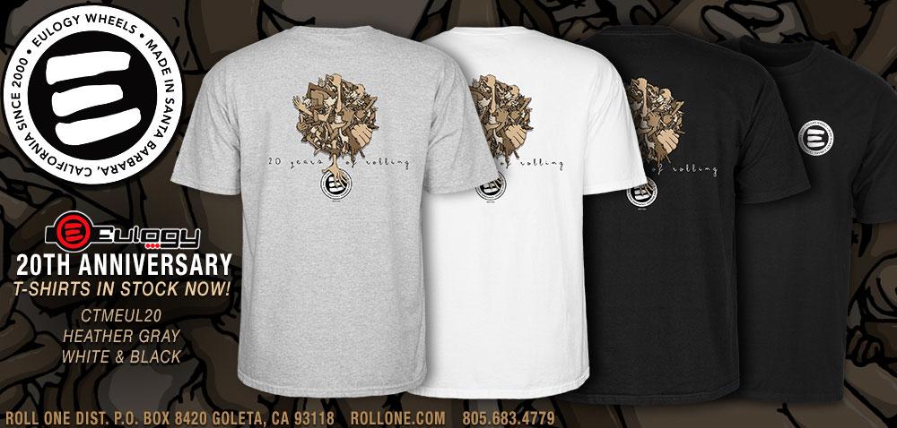 Eulogy 20 Year Anniversary T-shirts